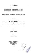 Catalogus codicum orientalium bibliothecae Academiae Lugduno Batavae