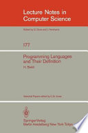 Programming Languages and Their Definition