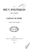 Les Deux Politiques de la France et le partage de Rome