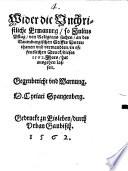 Wider die Vnchristliche Ermanung, so Julius Pflug, von Religions sachen, an des Naumburgischen Stiffts Vnterthanen vnd verwandten, in offentlichen Druck, dieses 1562. Jhars, hat ausgehen lassen