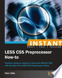 Instant LESS CSS Preprocessor How to