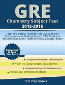 GRE Chemistry Subject Test 2015 2016