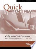 Quick Review of California Civil Procedure