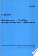 Operationen von Hopfalgebren in Kategorien von Yetter-Drinfeld-Moduln