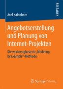 Angebotserstellung und Planung von Internet-Projekten