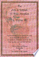 The Acts and Epistles of Bible Apostles  in Rhyme