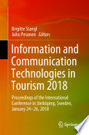 Information and Communication Technologies in Tourism 2018