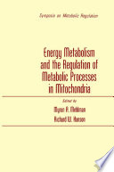 Energy Metabolism and the Regulation of Metabolic Processes in Mitochondria