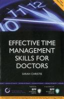 Effective Time Management Skills for Doctors
