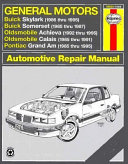 General Motors N-cars Automotive Repair Manual