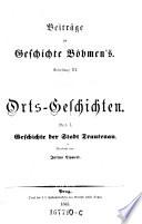 Geschichte der königlichen Leibgedingstadt Trautenau