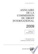 Annuaire De La Commission Du Droit International 2009 Vol Ii Partie 1