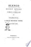 Elenco delle opere stampate e pubblicate in Venezia e nelle provincie venete nell anno 1823