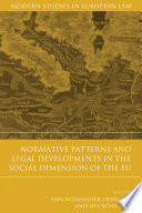Normative Patterns and Legal Developments in the Social Dimension of the EU