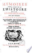 M  moires pour servir    l histoire de la Grande Bretagne  sous les regnes de Charles II et de Jacques II