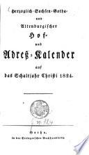 Herzoglich-Sachsen-Gotha- und Altenburgischer Hof- und Adreß-Kalender