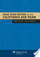 Essay Exam Writing for the California Bar