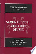 The Cambridge History of Seventeenth Century Music