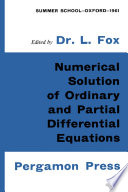 Numerical Solution of Ordinary and Partial Differential Equations