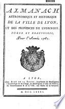 Almanach civil, politique et littéraire de Lyon et du département de Rhône