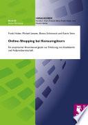 Online-Shopping bei Konsumgütern