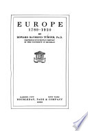 Europe  1789 1920