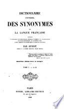 Dictionnaire universel des synonymes de la langue Fran  aise     Quatri  me   dition revue et corrig  e
