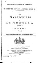 The Manuscripts of J B  Fortescue
