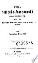 Valka nemecko-francouzska roku 1870. (Der deutsch-französische Krieg im Jahre 1870-71 ... 3. Ausg.) boh