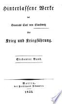 Hinterlassene Werke des Generals Carl von Clausewitz über Krieg und Kriegführung