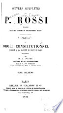 Cours de droit constitutionnel profess      la Facult   de droit de Paris