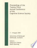 Proceedings of the Twenty Third Annual Conference of the Cognitive Science Society