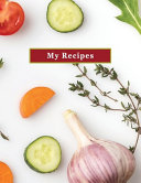 Low Vision My Recipes Blank Personal Cookbook