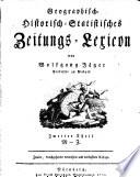 Geographisch-Historisch-Statistisches Zeitungs-Lexicon