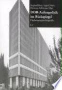 DDR-Aussenpolitik im Rückspiegel
