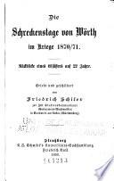 Die Schreckenstage von Wörth im Kriege 1870/71