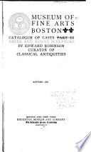 Catalogue of Casts  Part III Greek   Roman Sculpture