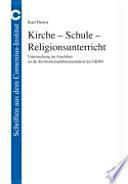 Kirche - Schule - Religionsunterricht