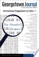 Georgetown Journal of International Affairs, Cyber IV
