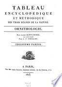 Tableau encyclop  dique et m  thodique des trois r  gnes de la nature  Ornithologie