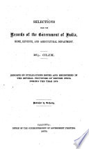 Records Of The Government Of India