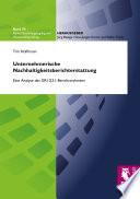 Unternehmerische Nachhaltigkeitsberichterstattung