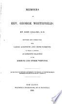 Memoirs Of Rev George Whitefield