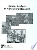 Gender Analysis in Agricultural Research