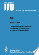Untersuchungen über das kombinierte Quer-Napf-Vorwärts-Fließpressen