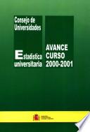Estadística universitaria del curso 2000-2001