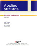Applied Statistics in Business & Economics with Student CD