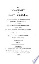 Ebook The Vocabulary of East Anglia Epub Robert Forby Apps Read Mobile