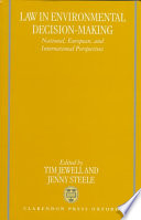 Law In Environmental Decision Making