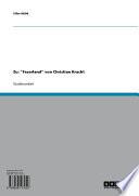 """Zu: """"Faserland"""" von Christian Kracht"""